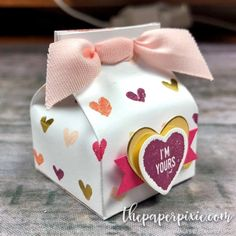 Today's project is another version of the Mini Milk Carton Valentine that I shared earlier this week and I've included a video tutorial to show you how easy it is! Here's a front-view: I love this project because it is so quick & easy and uses only a 3″ x 6″ piece of paper! So,…