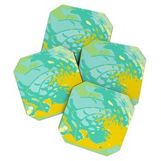 Rosie Brown Sea Treasure Coaster Set | DENY Designs Home Accessories   #coasters #beverage #bar #homedecor #denydesigns #art