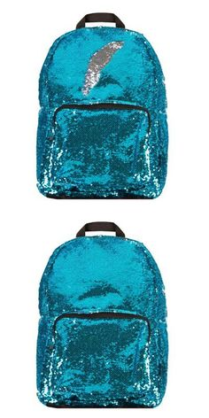 Backpacks and Bookbags 169292: Style.Lab Magic Sequin! Reversible Turquoise To Silver Fashion Backpack, -> BUY IT NOW ONLY: $33.06 on eBay!