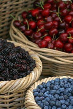 Cherries and Berries - Siena, Tuscany, Italy