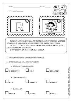 Alfabetizando com Mônica e Turma: Atividades de interpretação com personagens - P, Q, R