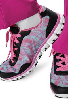 HeartSoul 'Love Me Not' Sneaker in Blue/Pink/Black from Cherokee Scrubs at Cherokee 4 Less