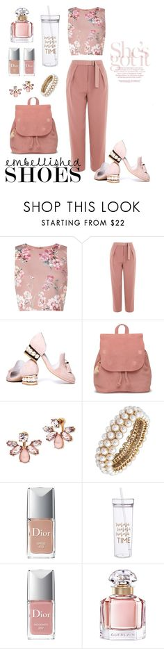 """""""Pink and pearl"""" by jus-dorange ❤ liked on Polyvore featuring Miss Selfridge, Topshop, Jeffrey Campbell, TOMS, Marchesa, Anne Klein, Christian Dior and Guerlain"""