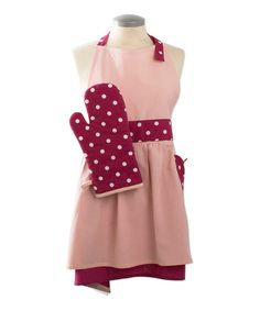 Look at this #zulilyfind! Pink & Red Easter Apron & Oven Mitt - Adult by tag #zulilyfinds