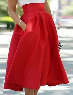 Red Hot skirt to match all your outfits! Would you wear it with flats or stilettos? Find this skirt at $12.99