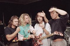 The mighty Van Halen! Van Halen 2, Eddy Van Halen, Alex Van Halen, Van Hagar, Atomic Punk, Red Rocker, Sammy Hagar, David Lee Roth, Rock Music