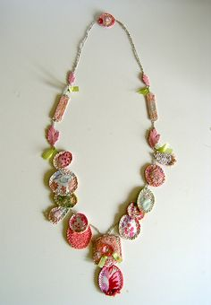 Fabric necklace | Flickr - Photo Sharing!