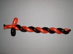 Finished Balloon Sword How to Make a Balloon Sword