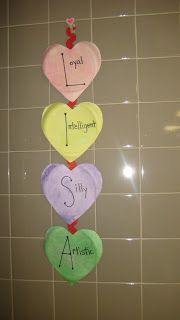 Made In The Shade In 2nd Grade: Valentine's Day Acrostic Poem Craft :)