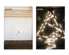 Get creative with hanging your holiday lights this year! Use Command™ Outdoor Light Clips to create a fun, festive design such as a Christmas tree hung on your garage door as this project shows. Then, add ornaments, snowflakes and hang a bow on the top of the tree using a Command™ Outdoor Terrace Hook. This holiday season, make sure the outside of your house is just as merry and bright as the inside - Command™ Outdoor Hooks and Clips can help you hang up all of your outside holiday décor!
