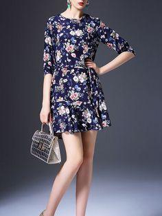 Floral-print Silk Mini Dress