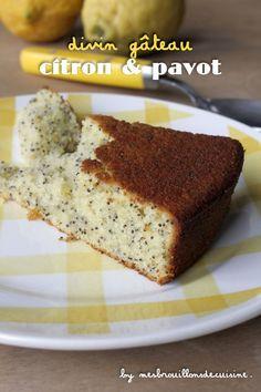 """Gâteau au citron et pavot de Pascale Weeks (avec lait fermenté) - """"Mes brouillons de cuisine !"""""""