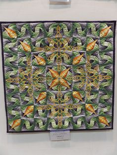 beautiful quilt with applique. Small quilt - pieced | Flickr - Photo Sharing!