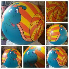 Bowling ball snail I made..
