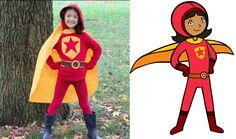 No-Sew WordGirl Costume: Video - http://www.pbs.org/parents/crafts-for-kids/no-sew-wordgirl-costume-video/