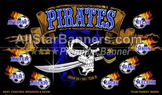 Pirates soccer banner idea from AllStarBanners.com We do soccer banners, baseball banners, softball banners, football banners and team banners for any sport.