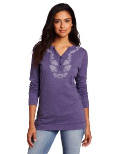 The screen print at the neckline of the carhartt artisan henley makes it a stand out you'll also like the soft and warm comfort of it cotton heathered slub knit no detail is too small; this button-front henley is finished with carhartt logo buttons Women's Henley, Henleys, Carhartt, Best Sellers, Women Accessories, Tunic Tops, Country Style, Casual, Cotton
