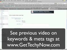 How to use keywords and meta tags