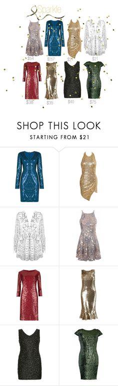 """Sparkler"" by tatummorrell on Polyvore featuring BCBGMAXAZRIA, Glamorous, M&S Collection, Samya, Badgley Mischka, nye and plus size dresses"