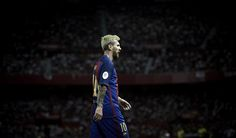 Lionel Messi Photos - Lionel Messi of FC Barcelona looks on during the match…