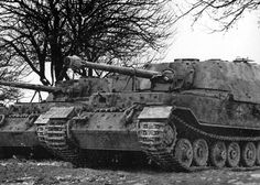 Two Tiger P SdKfz 184 Elefant Tank Destroyers sitting side by side.