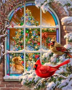 Evergreen Enterprises Christmas Window Garden Flag -- Discover this special product, click the image : Wedding Decor Christmas Bird, Christmas Scenes, Vintage Christmas Cards, Xmas, Advent, Photo Souvenir, Outdoor Flags, Home Decor Pictures, Cross Paintings