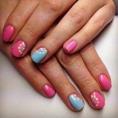 Blue & pink