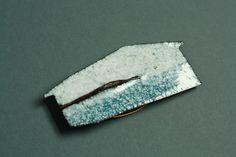 Enamel hut brooch by Hannah Duncan