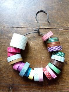 How to organize washi tape - on a rounded hanger!
