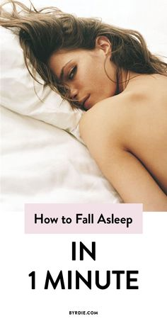 How to fall asleep in 60 seconds or less