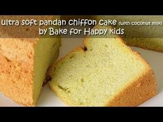 Bake for Happy Kids: Like Bengawan Solo Ultimate Soft Pandan Chiffon Cake (with coconut milk) Soft Sponge Cake Recipe, Sponge Cake Recipes, Pandan Chiffon Cake, Pandan Cake, Light Cakes, Happy Kids, No Bake Desserts, Let Them Eat Cake, Coconut Milk