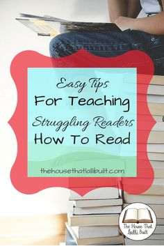 Simple ways to help struggling readers learn to read.  Try these tips next time you read with your child!