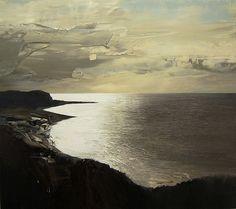 Chris Bushe(Scottish, b.1958) Glistening Sea, Drumadoon Point, oil on board