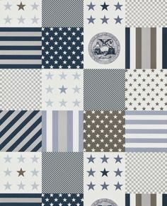 Papeles y murales con aire Vintage www.bbthcountrybaby.com Stars & Stripes Coordonné