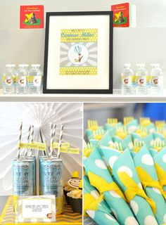 Chic Cheap Nursery Curious George -- beautiful party theme and setup #birthdayparty