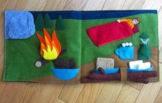 Camping Quiet Book Page | Imagine Our Life