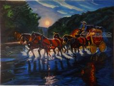Highway waterlogged on the way back - horseman and... ; Art Form: Paintings ; Style: Realism ; Media: Acrylic ; Genre: Animals,Daily Life,Landscape,Nature OLIVER MACHADO Dubai, Dubai - United Arab Emirates