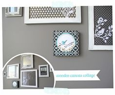 Silhouette Challenge wooden canvas collage