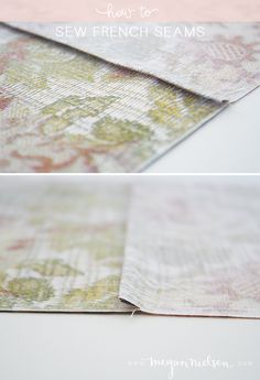 from Megan Nielsen: how to sew french seams tutorial with photos