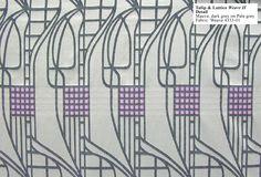 CR Mackintosh - Tulip & Lattice Weave II
