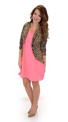 Nine to Five Blazer, Leopard :: NEW ARRIVALS :: The Blue Door Boutique