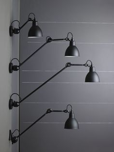 Adjustable wall lamp with swing arm 304L40 Wall/ceiling lamp Collection by DCW éditions