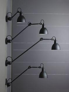 Luminária de parede ajustável com braço articulado 304L40 by DCW éditions design Bernard-Albin Gras