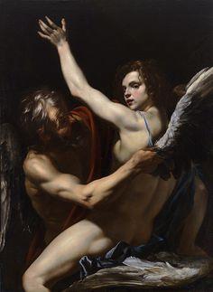 """""""Daedalus and Icarus""""  Orazio Riminaldi."""