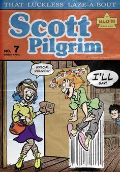 "Retro-looking ""Golden Age"" version of Scott Pilgrim by Rachel Ordway. Geek Wallpaper, Scott Pilgrim Comic, Bryan Lee O Malley, Arrow Tv Shows, Ramona Flowers, Vs The World, Fan Art, Art Challenge, Cultura Pop"