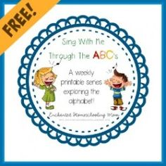 Sing With Me Through The ABCs Letter Pack Template