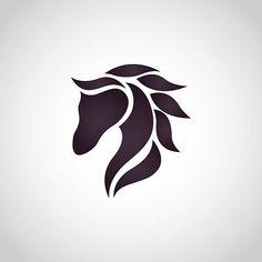 Horse logo vektör sanat illüstrasyonu