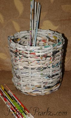 DIY: How to Recycle Paper into a Basket | For Women