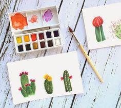 Watercolors for beginners // Poppytalk: 25+ New + Beautiful DIYs for Spring!