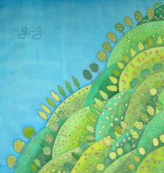 painting on silk by Tatiana Li